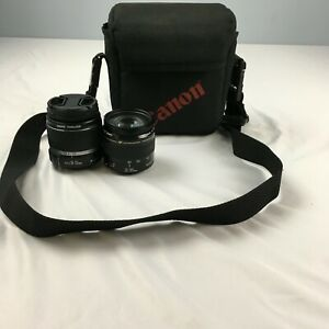 2 x CANON camera zoom lenses Ultrasonic 35-105mm/ EFS 18-55mm with carrying bag