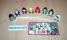 JUSTICE LEAGUE COMPLETE SET WITH ALL PAPERS KINDER SURPRISE EGG TOYS 2018