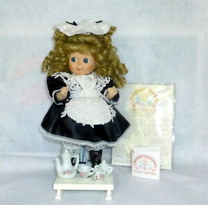 """Vintage 11"""" World Gallery Porcelain French Maid Doll Double O' Tootie MIB"""