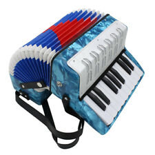 IRIN 17 Key 8 Bass Piano Accordion Musical Instrument Light Blue