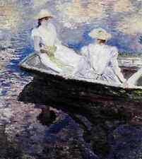 Metal Sign Monet Claude Girls In A Boat 1887 A4 12x8 Aluminium