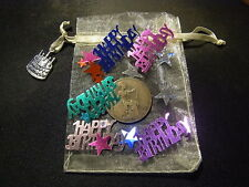 93rd Anniversaire Cadeau-Original 1924 Half Penny en organza sac avec confettis