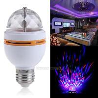 3W Colorful RGB LED Rotating Stage Light Globe Bulb Lamp Bar Party DJ Disco E27