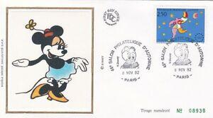L75 - ENVELOPPE PREMIER JOUR - DISNEY - 1992