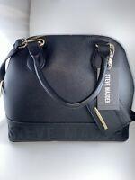 Steve Madden Women Logo With Detachable Pouch Tote Handbag NWT Black RV $98