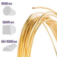 Red Brass Wire, Round, Half Round, Square, 14 16 18 20 21 22 24 26 28 Gauge