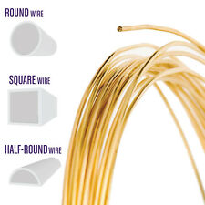 Red Brass Wire, Round, Half Round, Square, 14 16 18 20 21 22 24 26 28 Gauge