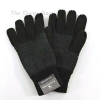 VAN HEUSEN Men's GRAY & BLACK Winter GLOVES Fleece Lined TOUCH SCREEN One Size