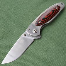 Sanrenmu 8Cr13MoV Blade Micarta Handle ECD Folding Knives MU5-714