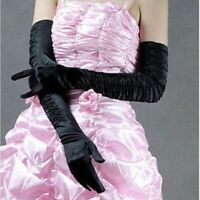Full Finger Lengthened Pleated Wedding Gloves Bridal Gloves Wedding Accessories