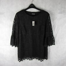 New! Stunning! The Collection Black Lake Flute Sleeves Top Debenhams Size 22