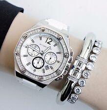 Original Michael Kors Uhr Damenuhr MK5563 Wrist Farbe:Silber/Weiss KRISTALL NEU