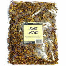 BLUE LOTUS 112 grams wild-crafted crushed flowers (Nymphaea caerulea) SLOW DRIED