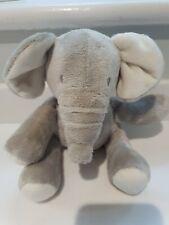 MARKS AND SPENCER SOFT TOY PLUSH GREY BABY ELEPHANT 20CM VGC
