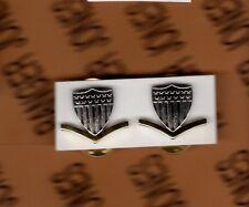 USCG Coast Guard E-4 Petty Officer 3rd Class PO-3 collar rank badge set