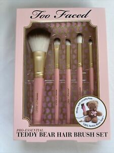 Too Faced Pro-Essential Teddy Bear Face Brush Set AUTHENTIC