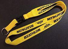 Biathlon Lanyard (.75-inches / 19 mm) - Yellow