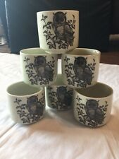 Otigiri Original Hand Crafted Tea Sake Cups Set Of 6 Japan NEW