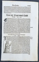 1598 Sebastian Munster Antique Engravings to Text of the Doges of Venice