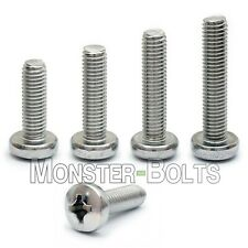 #10-32 Phillips Pan Head Machine Screws, 18-8 A2 Stainless Steel SAE Fine Thread
