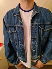 New listing Mens Work Jeans Denim Casual Long Sleeve Bomber Jacket Blue M
