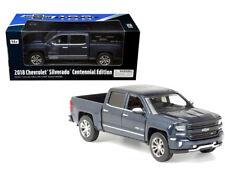 2018 Chevrolet Silverado Centennial Truck Blue 1/27 Scale By Motor Max 79353