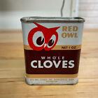 Vintage 1948 Red Owl Minneapolis Spice Tin Whole Cloves 1 oz Tin Can Full