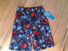 NWT Jelli Fish Kids Skull Pattern Sleep Shorts Sz 4-5 Boys W/ Elastic Waist