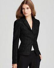NWT Elie Tahari Auben Coated Boucle Jacket in Dark Brown Black Blazer 2 38 $498