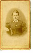 Victorian Named Woman-Identified Anna Johnson-Vintage Studio CDV Photograph