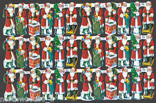 SANTA CHRISTMAS SCRAP PAPER EMBOSSED ENGLISH ORNAMENT POSED PAPER MACHE CARD