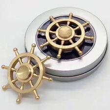 Pirate Rudder Brass Hand Spinner Fidget Fingertip Gyro Toy EDC Focus Anti-stres