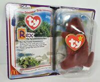 Ty Teenie Beanie Baby Rex Dinosaur Trio McDonald's Brand New In Box