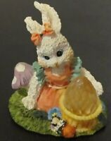 Vintage hand painted BUNNY Ceramic World Inc Brooklyn ~HAND PAINTED -2000