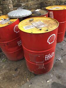 Oil barrel, Shell 200l Empty Great fire bin or barbecue