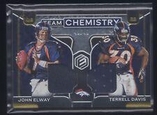 2020 Elements John Elway Terrell Davis Chemistry Materials SSP #/49 Dual Jersey