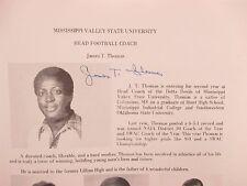 1979  Mississippi Valley St. Univ. Football Program (Signed-JAMES T. THOMAS + 4)