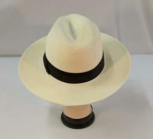 Furtalk Panama Hat Fedora Womens Men Wide Brim Ivory Medium Paper Straw NEW 1261