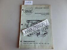 VOLVO PENTA Aquamatic AQ 105A 115A 130A 130B 130C 165A 170A Service Manual OEM