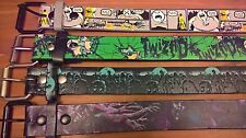 Mens Zombie Horror Belt Lot (4) Dark Twisted Comic Panel Hot Topic Novelty 32-34