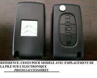 Coque clé plip Boitier télécommande Citroën C4 PICASSO*C4*C5 * 3 bouton * CE0523