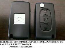Coque clé plip Boitier clef télécommande pour Citroën C4 PICASSO*C4*C5 3 boutons