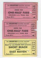 3 Ct transit tickets, Branford Electric Railway, Short Beach East Haven