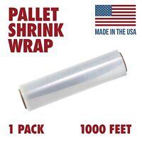 18 X 1000 Tough Pallet Shrink Wrap, 80 Gauge 18 Inch X 1000 Feet Film, 1 Pack