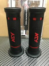 """SCOOTER 50CC 125CC 150CC GY6 NCY LD350 RUBBER GRIPS 7/8"""" BAR BLACK RED"""