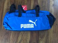 Puma Phase Sport Bag Sporttasche Blau Neu Kulturtaschen Set gratis