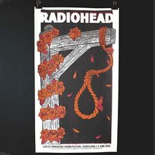 Radiohead Primavera Barcelona Concert Print Art Poster Burn the Witch Noose