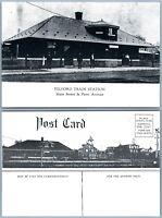 TELFORD PA TRAIN STATION MAIN STREET VINTAGE POSTCARD railroad railway depot