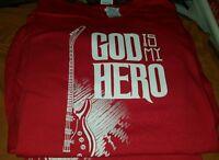 God is My Hero  Christian T-shirt (New)