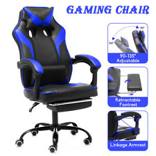 Ergonomic Office Chair Racer Gaming Chair Leather High Back Computer Desk Seat